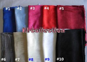 Fashion-Pashmina-Long-Soft-Wool-Scarf-Shawl-Wrap-Women-Men-Multi-Colours