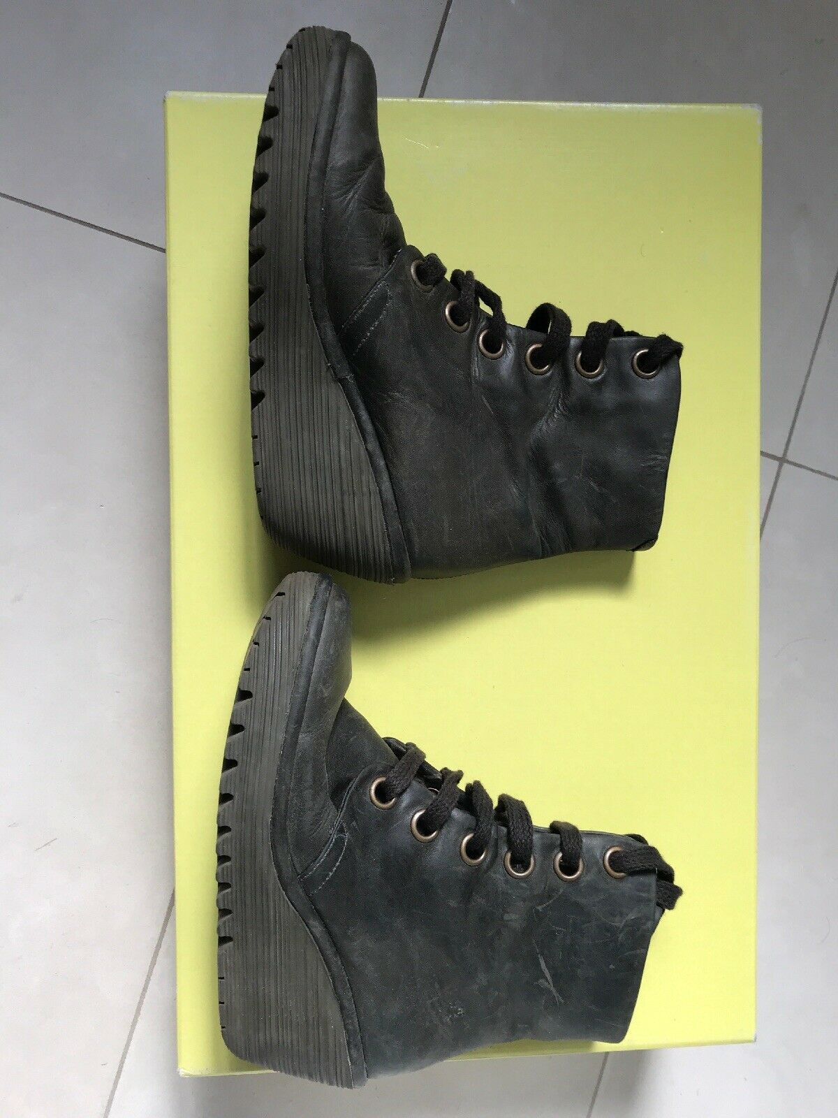 Fly London Yarg Boot Leather Grey