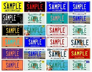 Plate Your Plates Ebay Different From Name Choose - Metal Florida License 24 Custom