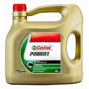 4L Castrol Power 1 10W40 4T Motorcycle/Bike 4 Stroke Semi-Synthetic Engine Oil