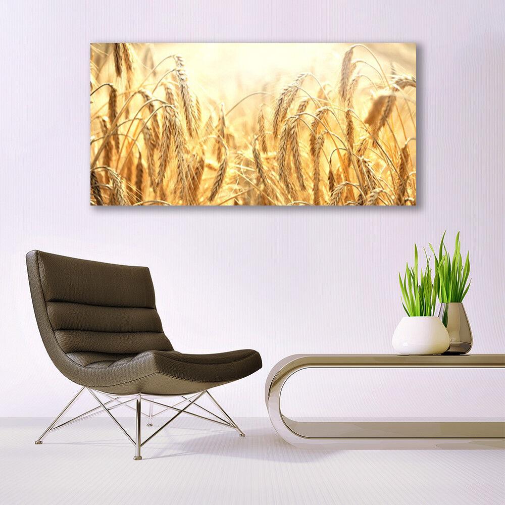 Immagini di vetro Muro Immagine Stampa su vetro 140x70 PIANTE PIANTE PIANTE GRANO 89864a