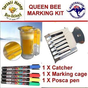 DELUXE 2 one handed catcher QUEEN BEE  MARKING  SET   3 PIECE     Pen