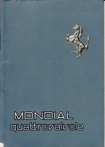 FERRARI MONDIAL QUATTROVALVOLE 1982 LIBRETTO USO E ...