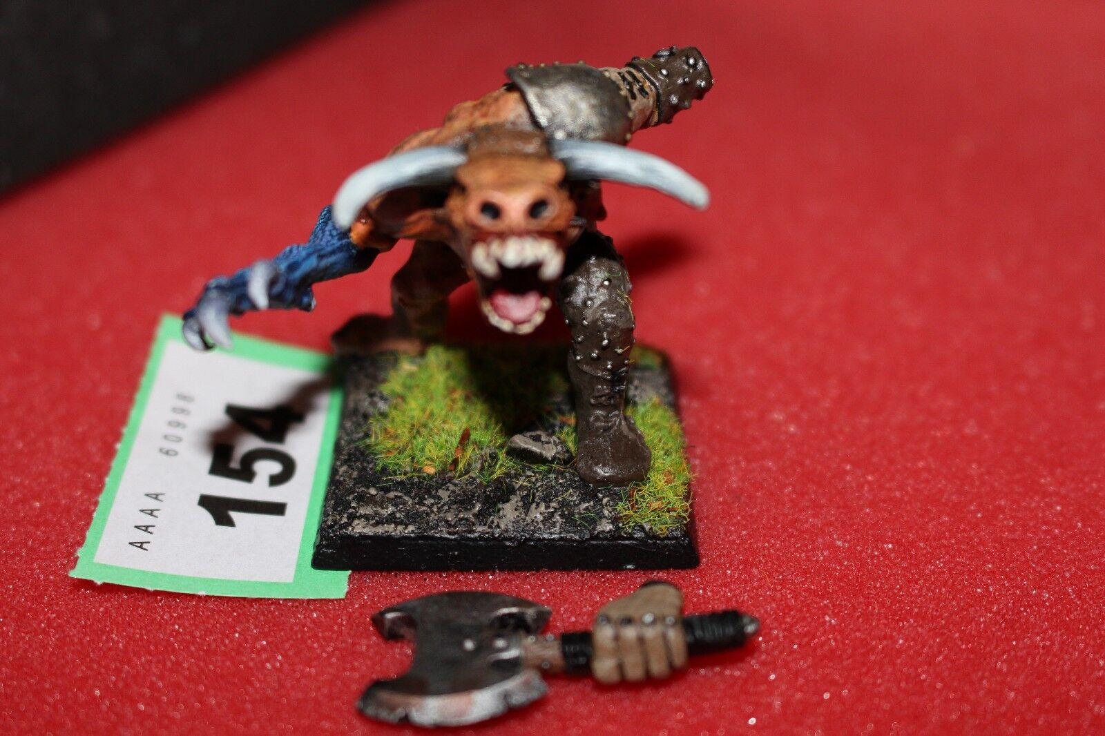 Games workshop warhammer minotaurus lord bloodbowl zitadelle minotauren gemalt - d