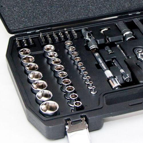 """Steckschlüssel Satz Ratschenkasten 1//2/"""" und 1//4 Werkzeugkoffer Set 72-tlg"""