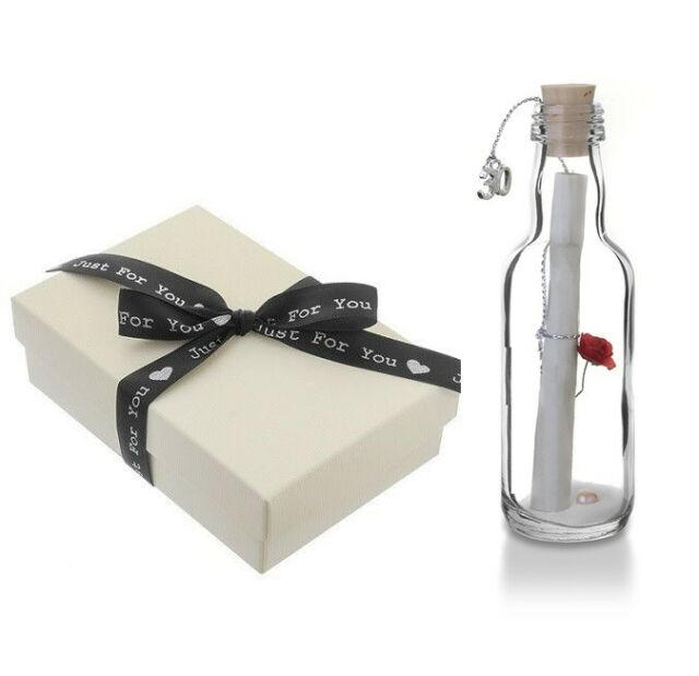 30th Pearl Wedding Anniversary Gift Message In A Bottle Keepsake For