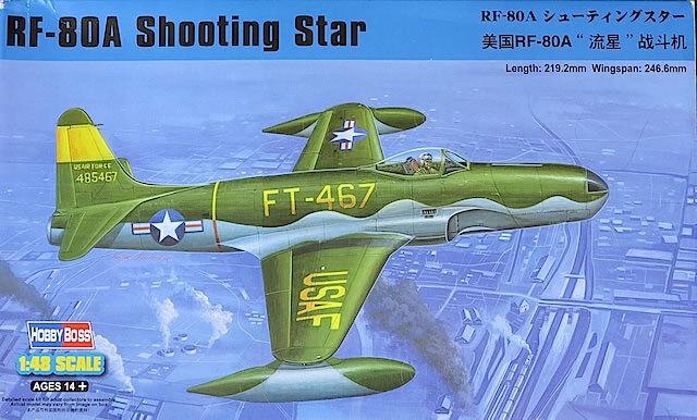 81724 Hobby Boss RF-80A Shooting Star Warplane Aircraft 1 48 Model Fighter Kit