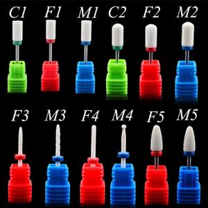 Pro-Ceramic-Nail-Art-Drill-Bits-w-Gel-Removal-Pedicure-Manicure-Rotary-Burr-Tool