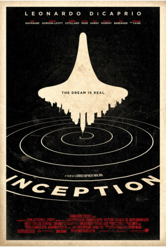 A4 A3 A2 A1 A0| Inception Movie Poster Print T389