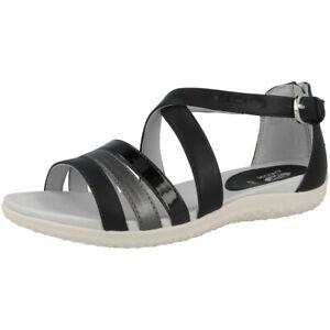 """Geox D Vega B Chaussures Femmes Sandales Outdoor Sandales Black D92r6b054ajc0005-05"""" afficher Le Titre D'origine"""