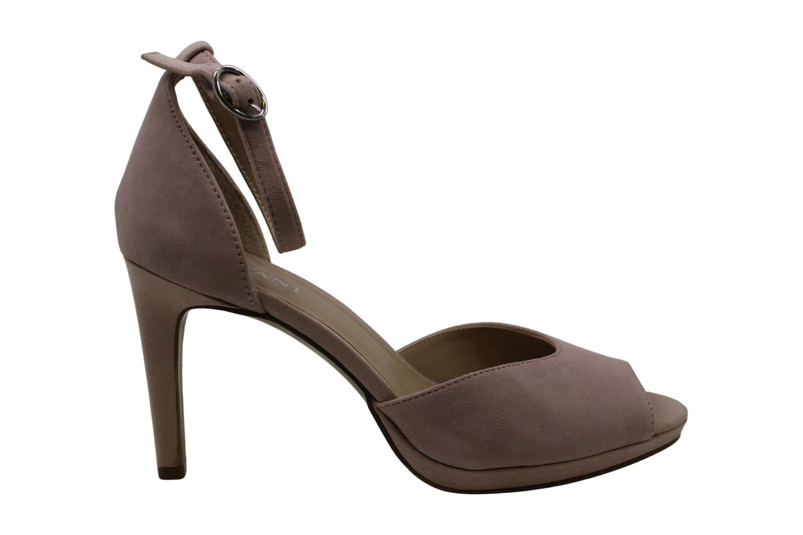 Alfani Womens Peonyy Suede Peep Toe Ankle Strap D-orsay, Blush Suede, Size 9.0