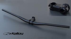 MTB-Lenker-amp-Vorbau-Set-Kalloy-Lenker-780mm-u-Vorbau-70-mm-35-mm-schwarz-matt