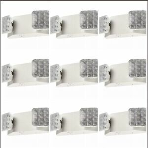 9-Pack-LED-Emergency-Exit-Light-Square-Head-UL-Fire-Safety-Code-Egress-ELW2