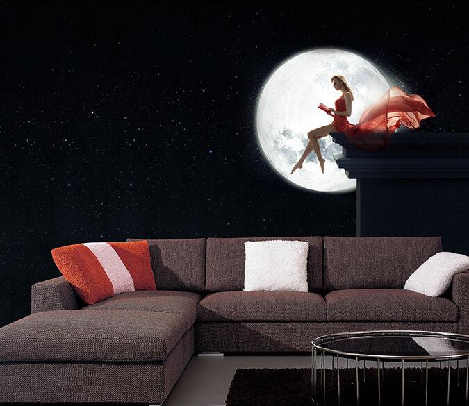 3D Mond-Göttin 43438 Fototapeten Wandbild Fototapete BildTapete Familie DE