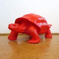 SCHILDKRÖTE 100 cm ROT PANZER Deko Figur Garten Tier Skulptur lebensgroß maritim
