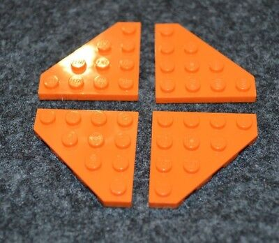 4X4 White Tapered Corner Wing Plate Bricks ~ Lego ~ NEW ~ Space 4