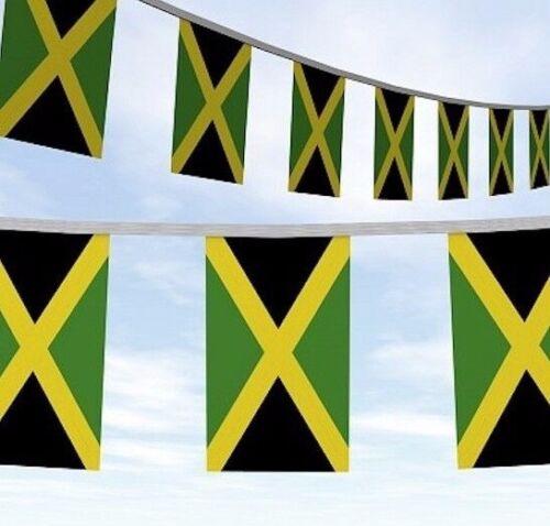 20 Metres Jamaica Jamaican Caribbean Roots Rasta Flag Bunting