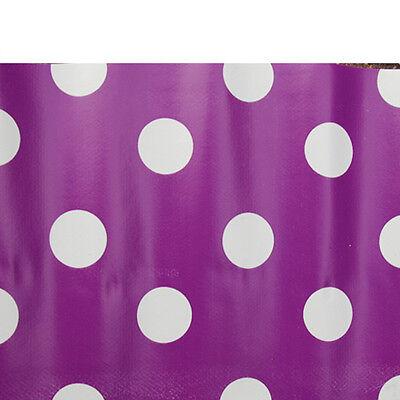 Vinyl PVC Tablecloth - Easy Wipe Clean POLKA DOT Spot Patio Oilcloth 140cm Wide