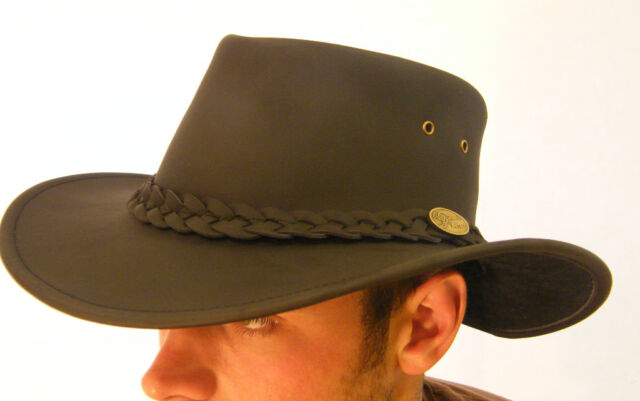 2999054c44d New Leather Kangaroo Bush Hat Brown or Black Small Medium Large XLarge XXL