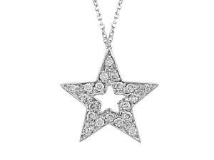 Diamant-Collier-Stern-in-750-er-18-Karat-Weissgold-amp-Zertifikat