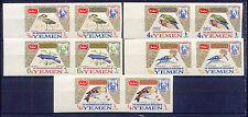 Vögel, Birds - Jemen - 148-152 B ** MNH 1965 2 x im ZD