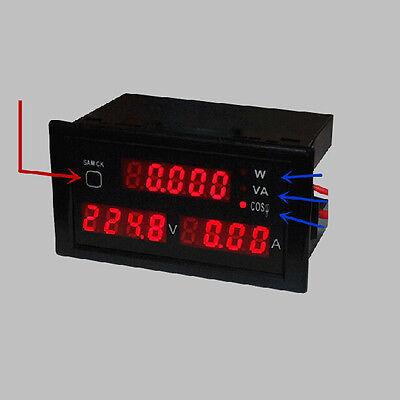 AC 110V - 220V Digital LED 100A watt power meter volt amp Ammeter Voltmeter W/VA