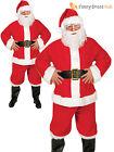 Mens Santa Claus Costume Father Christmas Fancy Dress Budget Outfit Suit Adult