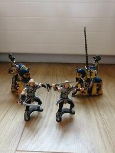 Schleich Bundle- 2 X Tournament Knights On Horse + 2 X Griffin Knight Berserkers