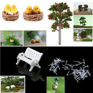 5Pcs Miniature Streetlight Craft Plant Pot Fairy Garden Decor Dollhouse Ornament