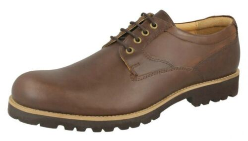 Malvern /'Euston/' Mens Brown Leather Lace Up Shoes