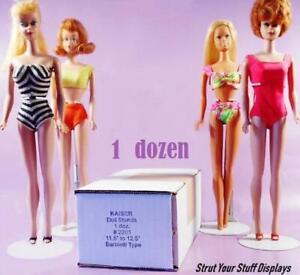 """1 Dozen 12 Kaiser 2201 WHITE 11.5/""""-12.5/"""" Barbie JEM /& Other DOLL STANDS MATTEL"""