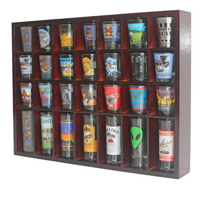 Collectibles Sports Mem, Cards & Fan Shop Sc11-ma Refreshing And Enriching The Saliva Brilliant 28 Shot Glass Display Case Rack Wall Shelves Shadow Box Holder Cabinet
