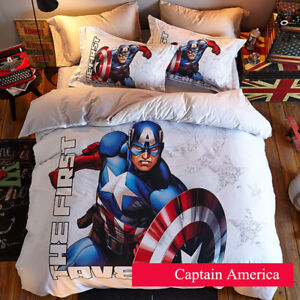 Captain America Kinder Gift Bettwäsche Cosplay Bettdecke Quit Cover