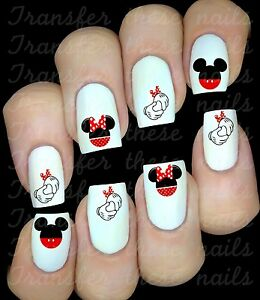 30 Minnie Mickey Mouse Nail Art Decals Stickers Water Transfers