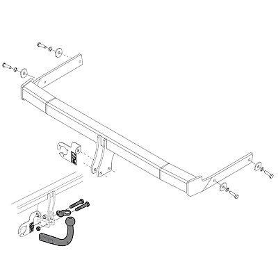 towbar for skoda yeti suv 2009-2018 - swan neck tow bar | ebay  ebay