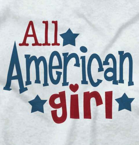 All American Girl USA Patriotic 4th July Gift Girls Youth Newborn Infant Rompers