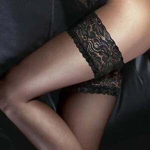 396a12a52d3 10 Denier Sheer and Ultra Gloss Luxury Deep Floral Lace Top Hold Ups ...