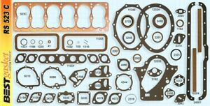 Dodge-Plymouth-201-218-230-COPPER-1934-60-Full-Gasket-Set-BEST-23-1-2-034-head