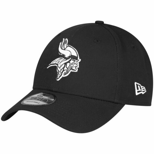 BLACK Minnesota Vikings New Era 9Forty Adjustable NFL Cap