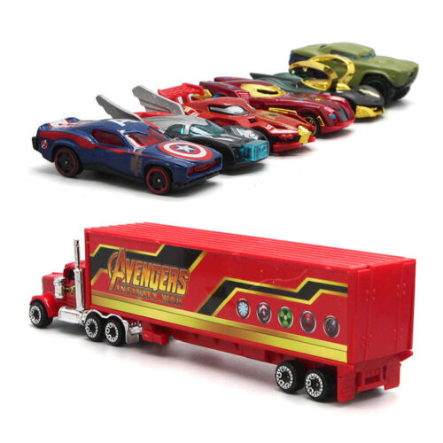 7PCS The Avengers Theme Truck /& Car Modell Die Cast Modellauto Spielzeug Kinder