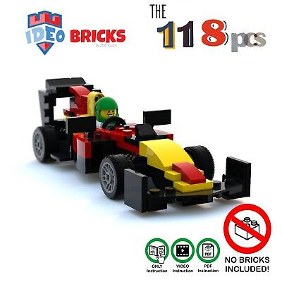 Moc lego Manual how build Formula One car Red Bull VideoPDF Instruction  Manual   eBay