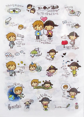 It's Our Time Love Story Transparent Sticker Sheet Set~KAWAII!!!
