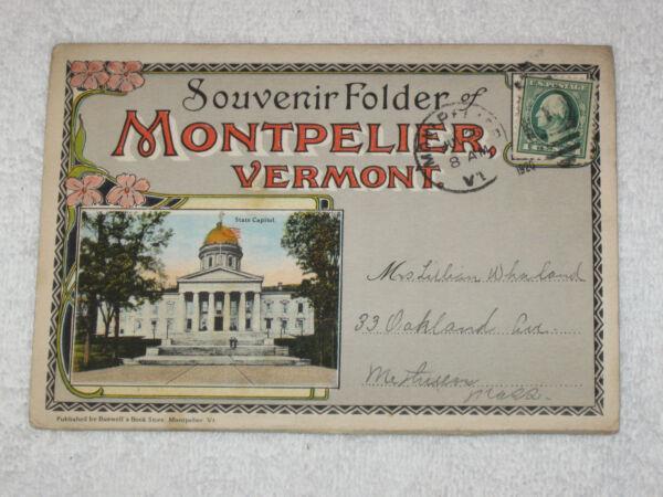Ambicioso Vintage Souvenir Guide 1920 - Montpelier, Vermont úLtimo Estilo