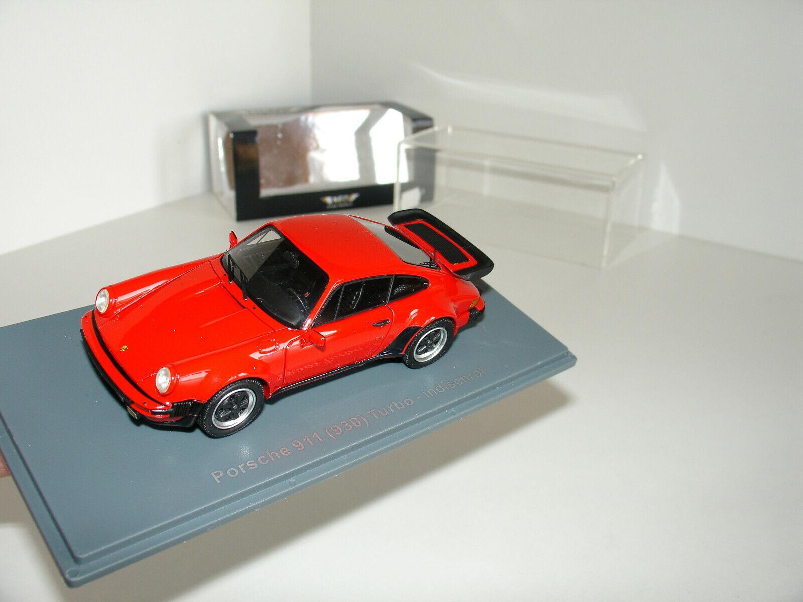 1 43 PORSCHE 911 (930) TURBO rosso L.E. 299pcs by NEO SCALE MODELS