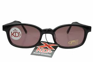 X KD's Sunglasses Original Biker Shades Motorcycle Black Rose 10120