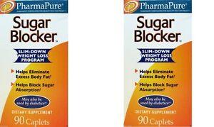 PharmaPure Sugar Blocker Weight Loss Supplement (2 Pack) 90 Count Bottles**
