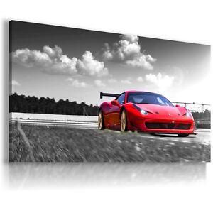 FERRARI ITALIA RED Super Sports Car Large Wall Art Canvas Picture AU333