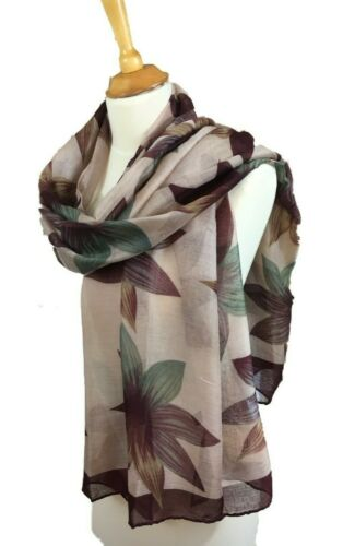 Striking Vintage Aubergine Large Floral Scarf Neck Warmer Snood New In Gifts AW