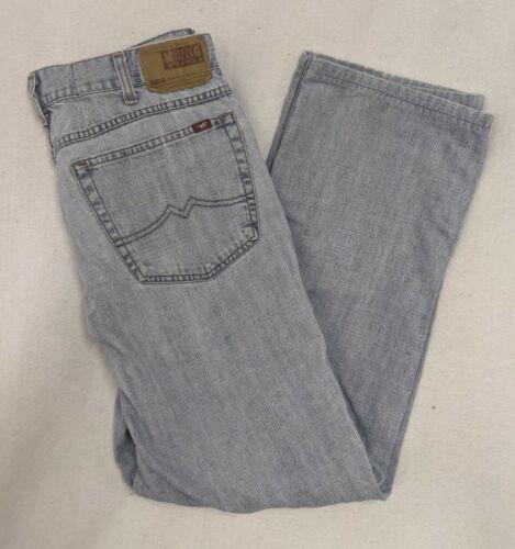 MUSTANG Men Jeans Vintage pants denim classic Retro light Blue Tramper straight leg medium rise W36 L32 slim fit stretchy elastic stretch
