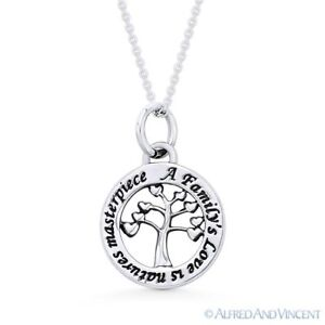 Tree-of-Hearts-Love-Charm-Pendant-amp-Chain-Necklace-in-Solid-925-Sterling-Silver